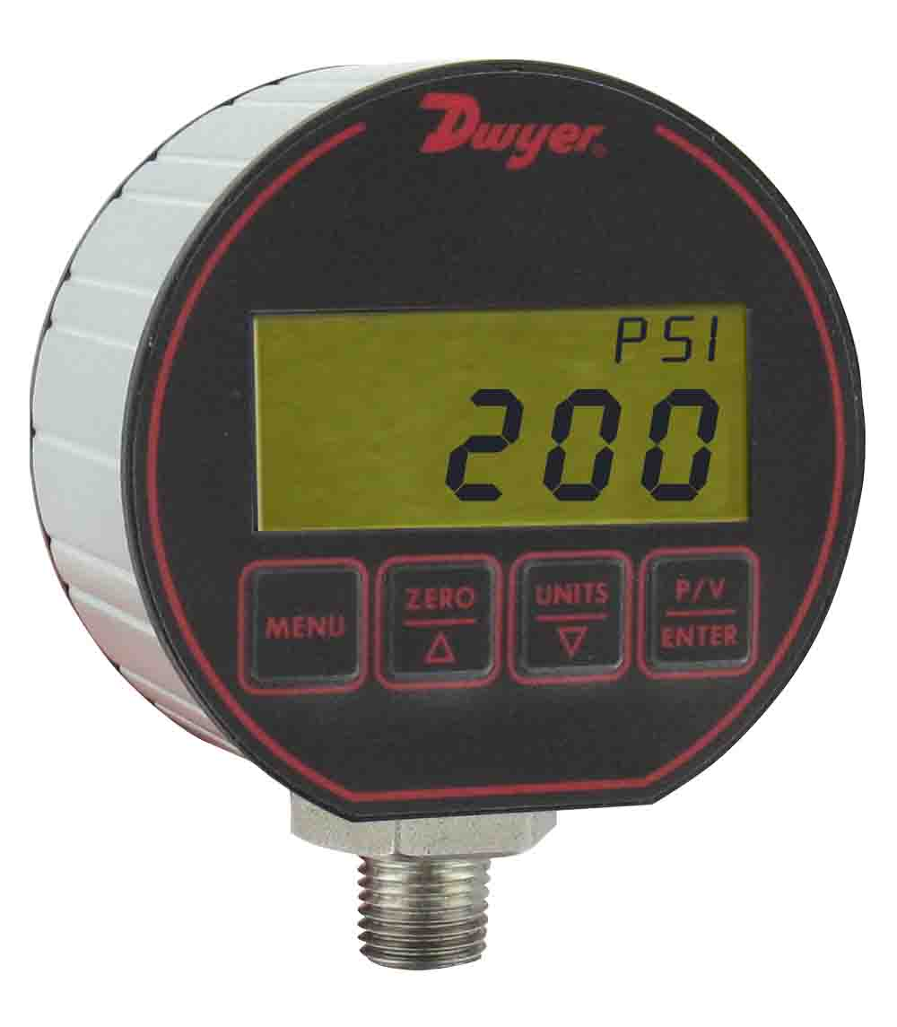 Range 30 Hg-0-100 psig Range 30 Hg-0-100 psig Dwyer Instruments DPG-024 +//-0.5/% Full Scale Accuracy Dwyer DPG Series Digital Pressure Gauge