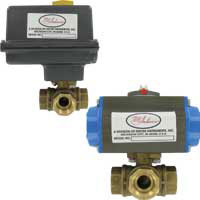 Series 3ABV Automated Ball Valve, 3-Way Brass NPT