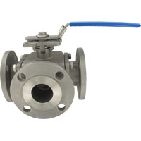 Series 3BV2FH 3-Way Stainless Steel Flange Ball Valve