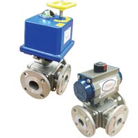 Series 3BV2 Automated Ball Valve, 3-Way SS Flange