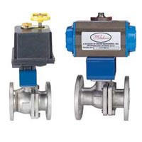 Series BV2-F1 Automated Ball Valve - Two-Piece SS Flange