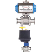 Series BV3-3A Automated Ball Valve - 3A Three-Piece SS