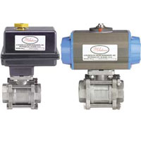 Series BV3 Automated Ball Valve - Three-Piece SS NPT