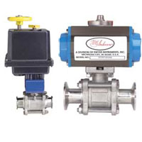 Series BV3-TC Automated Ball Valve - Three-Piece SS Sanitary