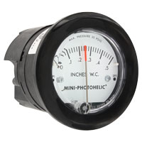 Series MP Mini-Photohelic® Differential Pressure Switch/Gage