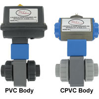 Series PBV Automated Ball Valve - Two-Way Plastic