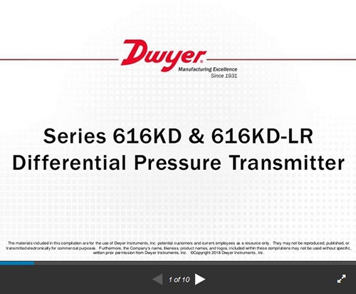 Series 616kd Lr Differential Pressure Transmitter Low Ranges