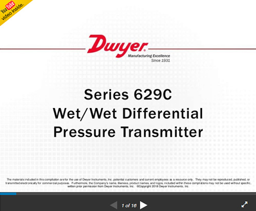 Dwyer 629C-18-CH-P3-E1-S1-AT 629C Transmitter 0-20