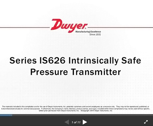 Series IS626 | Intrinsically Safe Pressure Transmitter can