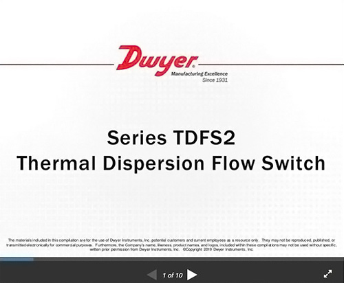Series TDFS2 | A thermal dispersion flow switch indicates whether
