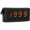 LCD Digital panel meter, loop powered 4 to 20 mA, red segments.