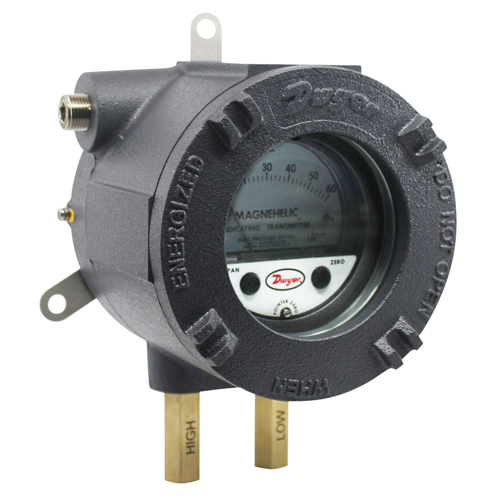 Series AT-605 ATEX/IECEx Approved Magnehelic® Differential Pressure Indicating Transmitter