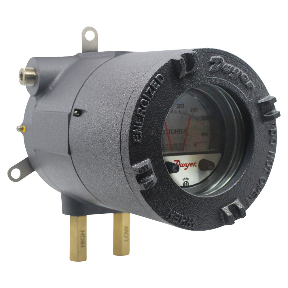 Series AT-A3000 ATEX/IECEx Approved Photohelic® Pressure Switch/Gage