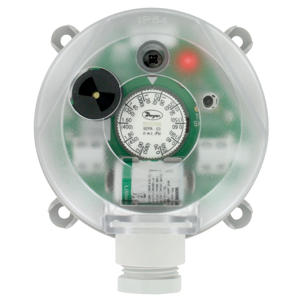 Series BDPA Adjustable Differential Pressure Alarm